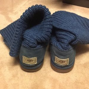 Ugg Sweater boots- great blue color